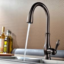 Bar Faucets Oil Rubbed Bronze by Brass Singel Lever High Arc Pull Down Kitchen Faucet With