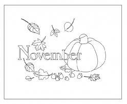 November Coloring Page Printable