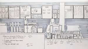 Illustration Of A Starbucks Store
