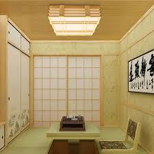 moderne deckenleuchte led aus holz für wohnzimmer