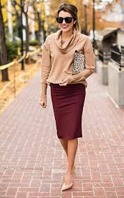 Work Office Outfit Pencil Skirt Hello Fashion H724