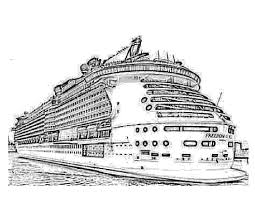 Big Ship Titanic Coloring Pages