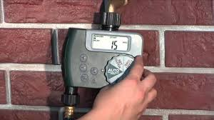 how to program an orbit dual outlet hose faucet timer youtube