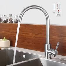 lonheo niederdruck wasserhahn küche armatur aus edelstahl 360 schwenkbar küche mischbatterie einhebelmischer chrom