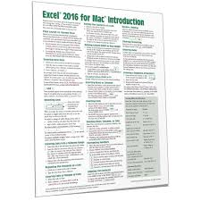 Excel 2016 Mac Quick Reference Cheat Sheet Guide Beezix