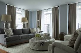 taupe and blue living room home decoration