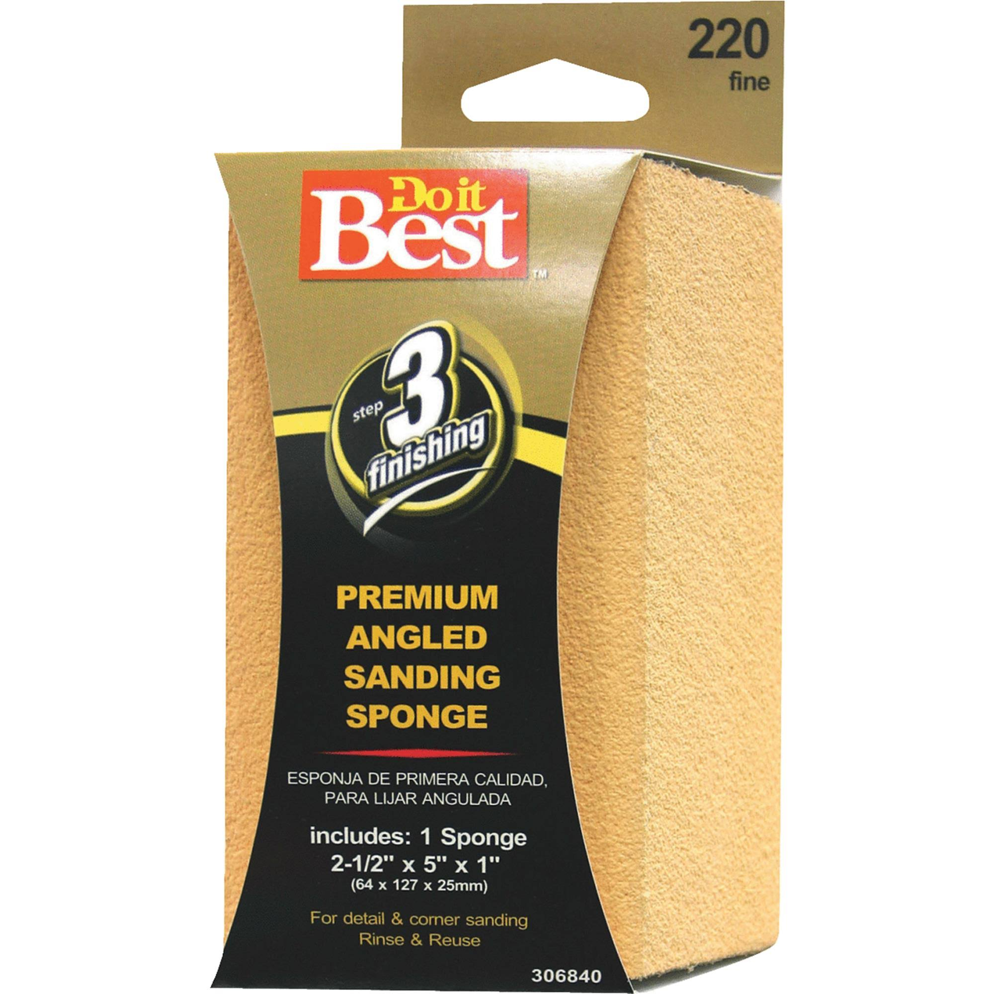 "Do it Best 306840 Angled Sanding Sponge - 2 1/2"" x 5"" x 1"""