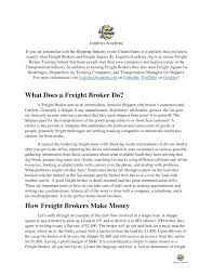 Calaméo - Job Description For Freight Brokers And Freight Agents ... 29 Best Freight Broker Images On Pinterest Truck Parts Business Broker License Nj Iota Job Description For Brokers And Agents Bonds Agent Plan Genxeg Adapting To The New Bond Requirement Renewal Invoice Factoring Triumph How Become A A Bystep Guide Your 2017 Handson Traing Movers School Llc About Us Localboyzz Trucking To Get License Without