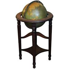 Globe Furniture F Cram Lighted Standing Glass Library Globe With