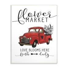 100 Classic Industries Truck Stupell 125 In X 185 In Flower Market Love