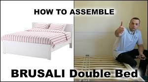 Brusali Bed Frame by Ikea Brusali Bed Frame White Luröy Youtube