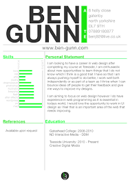 Web Design Resumes Template Example