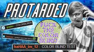 Sneaky Takes a Colorblind Test