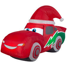 6 Ft. Inflatable Airblown-McQueen With Santa Hat-110003 - The Home Depot
