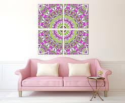 Joss And Main Edna Headboard by Pink Mandala Wall Art Canvas Set 4 Panels Mandala Print Wall Art