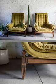 Stunning Vintage, Mid-Century Modern, Velvet Tufted Adrian ...