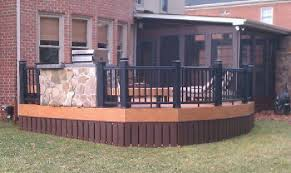 Metal Deck Skirting Ideas by Railing Options Archadeck Of Charlotte