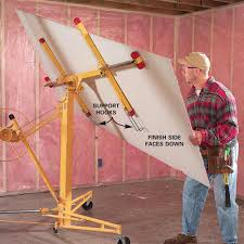 Hanging Drywall On Ceiling Tips by Tips For Easier Diy When You Work By Yourself Drywall Lift