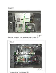 Kds R60xbr1 Lamp Fan by Where Is The Thermal Fuse Located On A Sony Kdf E55a20