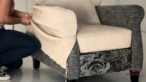 Chair Slip Cover Pattern by How To Install A Reclining Armchair Cover Youtube