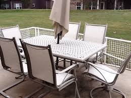 captivating patio chair slings with woodard patio furniture