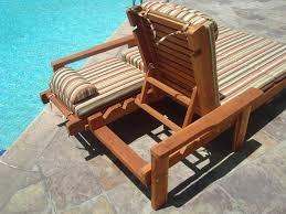 Image Of Wood Pool Lounge Chair Patio Garden