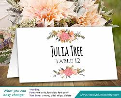 DiY Printable Wedding Place Card Template