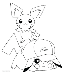 Picachu Coloring Pages Page Ninja Pikachu
