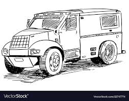 100 Armored Truck Sketch Drawing Of Armored Truck Royalty Free Vector Image