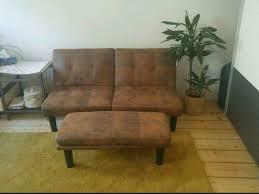 sofa braun rostige farbe sehr modern