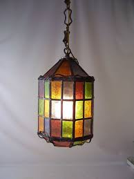 Antique Stained Glass Hanging Light Fixtures Amazing Dining Room