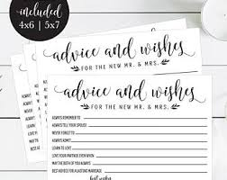Words Of Wisdom Printable Wedding Cards Guest Book Idea Rustic Advice For Newlyweds