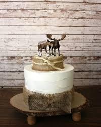 Moose Wedding Cake Topper Photo
