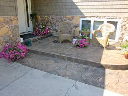 Stamped Concrete Front Stoop. Pattern Is Random Stone, Colors Are ... Patio Ideas Concrete Designs Nz Backyard Pating A Concrete Patio Slab Design And Resurface Driveway Cement Back Garden Deck How To Fix Crack In Your Home Repairs You Can Sketball On Well Done Basketball Best 25 Backyard Ideas Pinterest Lighting Diy Exterior Traditional Pour Slab Floor With Wicker Adding Firepit Next Back Google Search Landscaping Sted 28 Images Slabs Sandstone Paving