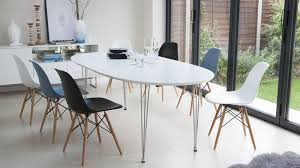 ellie oval extending and eames style dining set
