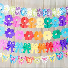 Wedding Party Medallion Background Decorations Sunflower Garland DIY Tissue Paper Decoration Baby Birthday Supplies In Banners Streamers Confetti