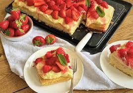 erdbeer pudding kuchen vom blech