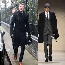 Hot New Fashion Slim Fit Men Casual Trench Coat Mens Long Winter Coats Man Wool UK Style Outwear Overcoat Outerwear Online With