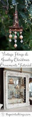 Vintage Hinge Jewelry Christmas Ornaments