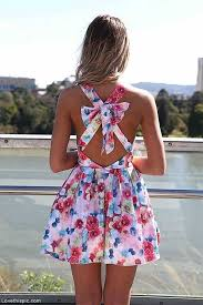 Floral Dress With Bow Accent