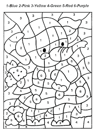 Advanced Color By Number Coloring Pages Numbers Free Printable