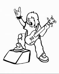 Rock Star Coloring Pages U2013 Birthday Printable