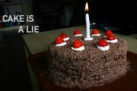 Cake is a Lie Portal Cake from Black Forest Cherry Cake Album on