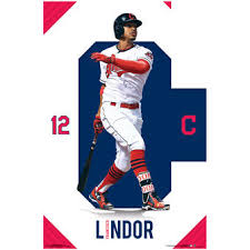 Francisco Lindor Cleveland Indians 23 X 34 Player Wall Poster