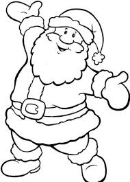 Happy Santa Free Coloring Pages For Christmas