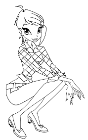 Download Coloring Pages Winx Club Games Free Printable For