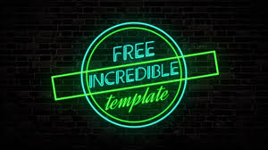 Neon Text Animation Intro Template 11 After Effects Free