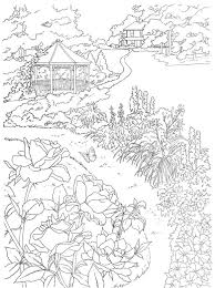 Dover Coloring Book Country Scenes To Paint Or Color