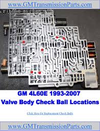 Check Ball Locations In GM's 4L60E Transmission Valve Bodies. There ...