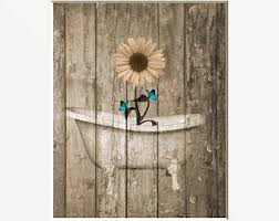 Teal Brown Bathroom Decor by Farmhouse Bathroom Decor Etsy